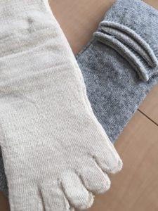 ヒオリエ冷えとり靴下内絹外綿2足