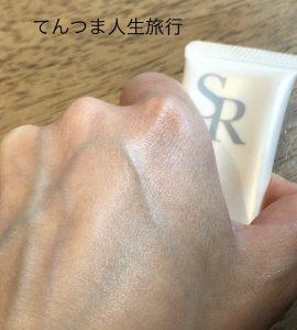 スキンレタッチャーを塗った肌の写真